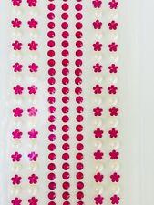 ✨ Self Adhesive Jewels Face Gems Rhinestones Pearls Crafts Decoden Fuchsia Pink