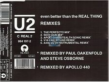 U2 even better than the real thing CD MAXI #2 uk remixes