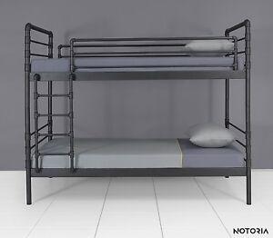 NODUS Bett Hochbett Metallbett Jugendbett Industrial Bunk bed