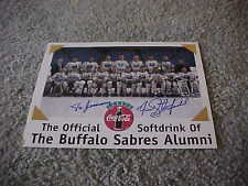 Buffalo Sabres Alumni Hockey Team Photo Autographed Signed by Fred Stanfield