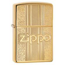 Zippo 29677, Textures, High Polish Brass Lighter, Full Size