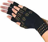 Magnetic Arthritis Gloves Compression Support Fingerless Hand Wrist Pain Relief