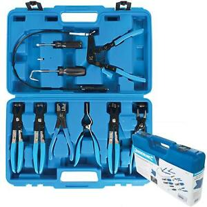 Silverline 9pc Hose Pliers Clamp Clip Removal Plier Set For Water Fuel Pipe
