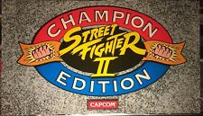 "Street Fighter II Championship Edition-Dynamo Big Blue Arcade Marquee-27""x15.5"""