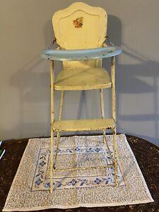 AMSCO Vintage 1950s  Doll-E-Hichair Pink Metal High Chair   Costco (5)
