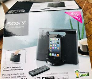 Sony RDP-M7IPN Lightning Connector iPhone/iPod Portable Speaker Dock - Black NEW