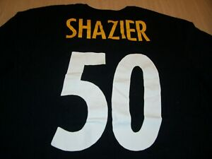 NIKE ATHLETIC CUT PITTSBURGH STEELERS SHAZIER BLACK T-SHIRT JERSEY MENS XL EXC.