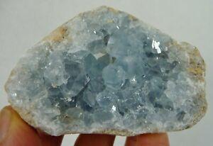 Blue Celestite Crystal Natural Specimen Madagascar 200 grams Angel Stone