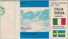 68519 -  BIGLIETTO PARTITA CALCIO 1986: ITALY /  SWDEN Campionato UEFA Espoirs