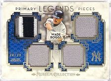 2014 Topps Museum WADE BOGGS 20/25 Quad Game Used JERSEY PATCH Relics PPQRL-WB