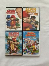 Alvin and the Chipmunks lot of 4 DVDs; like brand new
