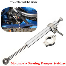 Universal Silver 330mm Aluminum Motorcycle Steering Damper Fork Stabilizer Kit