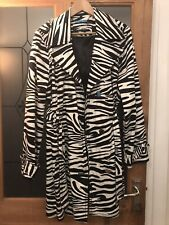 Julian Macdonald Zebra Print Double Breasted Jacket Coat Size 18 New With Tags