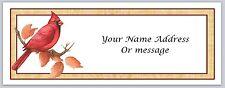 30 Personalized Return Address Labels Cardinal Bird Buy 3 get 1 free (c 82)