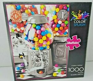 Buffalo Gumball Surprise Color Splash 1000 Piece Jigsaw Puzzle With Machine Art