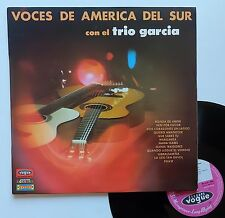 """Vinyle 33T Trio Garcia """"Voces de America del sur"""" - TRES RARE - dédicacé"""