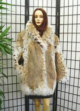 BRAND NEW NATURAL MONTANA LYNX FUR JACKET COAT WOMEN WOMAN