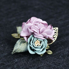 Handmade Flower Brooch Pin Badge Fabric Lapel Accessories Collar Men's Suit G