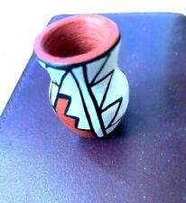 Miniature Vase Vintage Signed M Toya Jemez