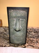 Tiki Faux Stone Green Face Easter Island Tissue Box Cover Rotary Hero