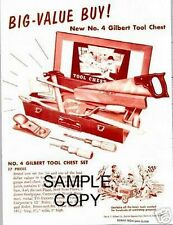 Gilbert Tool Chest Flyer Info D1815 Reprint