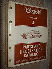 1982-1988 CADILLAC CIMARRON PARTS BOOK CATALOG TEXT & ILLUSTRATIONS