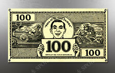 VINTAGE EDDIE CANTORS 100 DOLLAR BILL IMAGE BANNER NOS IMAGE REPRODUCTION