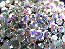 1440pcs Hotfix Heat Iron-On Rhinestones Seed Beads SS6 Clear Crystal AB 2mm