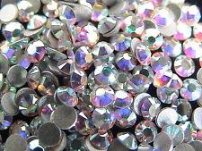 1440pcs Hotfix Heat Iron-On Rhinestones Seed Beads SS6 Clear Crystal AB 2mm