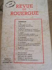 REVUE du ROUERGUE 1987 No 11 FETE NATIONALE de JEANNE D'ARC . EVEQUE VIVIAN
