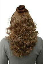 Hair Piece half Wig Clip-In Hair Extension Curls Honey Blonde 40cm H9312-15
