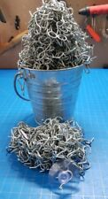 "75 One Inch Bulk Metal Hooks Suction Cups 1"" Hook"