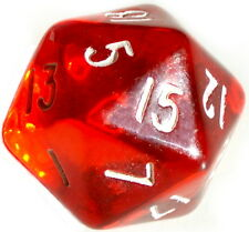 10 Stück Rot-Transparente Würfel 20Seitig (1-20) D20/W20/Knobeln/Spiele-Zubehör