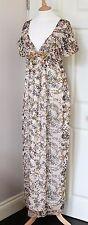 KENZO printed silk maxi dress jewels gorgeous rare piece UK12 EU44 US8