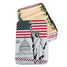 Statue of Liberty Strike Anywhere Matches in Tin Container Made In USA