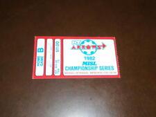 1982 MISL CHAMPIONSHIP TICKET STUB NEW YORK ARROWS VS ST. LOUIS STEAMERS
