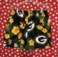 NFL Team Apparel Men's Hawaiian Green Bay Packers Swim Trunks Medium NWT A129