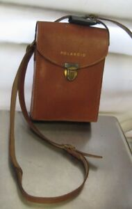 Vintage Polaroid Camera Case, Brown Leather Case
