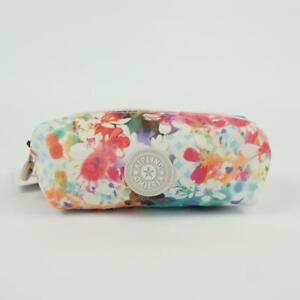 KIPLING ANTHONY Nylon Pouch Cosmetic Case Garden Happy
