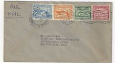 1932 Colon Panama Airmail to New York, #C7-C8, #C10-C11