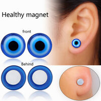 Blue eye stimulating acupoints stud earring bio magnetic therap weight loss NT