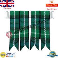 Men's Scottish Highland Kilt Hose Socks Flashes Lamont Tartan Garter Pointed