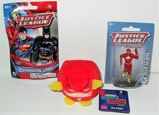 "DC JUSTICE LEAGUE FLASH LOT 3 PLUSH 2"" KAWAII CUBES MINI FIGURE & CHIBIS PACK"