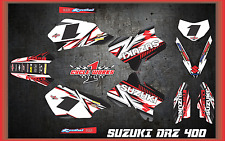 Suzuki DRZ400 DRZ 400  SEMI CUSTOM GRAPHICS KIT DETOX3