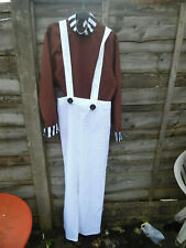 UMPA LUMPA DRESSING UP OUTFIT WITH WIG SIZE SMALL