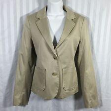 Theory Sz 10 Beige Stretchy Pinstripe Blazer Jacket
