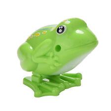1x Wind up Frog Plastic Jumping Animal Classic Educational Clockwork Toys JP