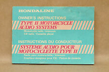 Vtg Honda Line Motorcycle Accessories Audio System CB Radio Owners Manual