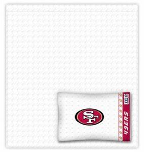 NFL San Francisco 49ers Twin 3 Piece Comforter Bedding Team Logo Bed in Bag Set