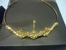 Debenhams Jon Richard Gold Coloured & Part Swarovski crystal tiara NEW